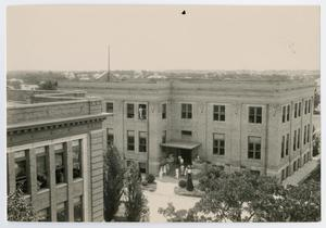 Primary view of object titled '[Historical Building at North Texas State Teachers College]'.