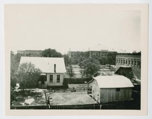 Primary view of object titled '[Main Building and Science Building at North Texas State Normal College]'.