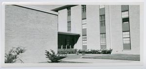 Primary view of object titled '[West Hall dormitory at North Texas State College]'.