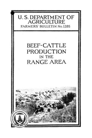 Primary view of object titled 'Beef-cattle production in the range area.'.