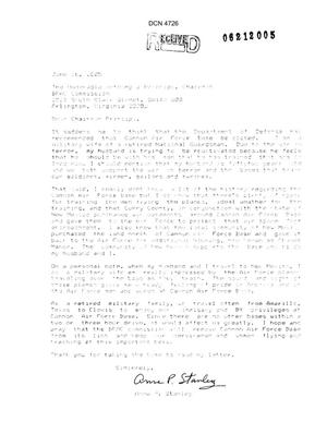 Primary view of object titled 'Community Correspondence  - Individual Letters from Cannon AFB New Mexico'.