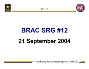 Primary view of object titled 'Army - Surge #12 - September 21, 2004- Briefing and Minutes'.