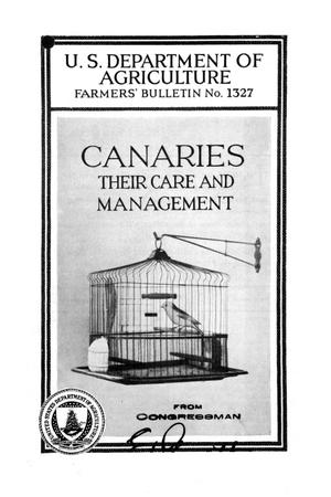 Canaries : their care and management.