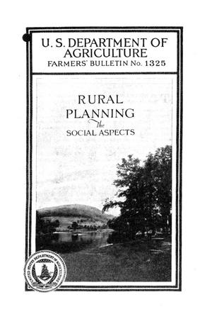 Primary view of object titled 'Rural Planning: The Social Aspects.'.