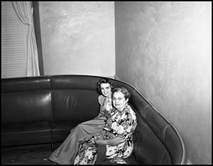 Primary view of object titled '[Miss Jessie Acker and female student at social event at North Texas State College]'.