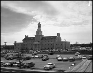 Primary view of object titled '[Administration Building Parking Lot]'.