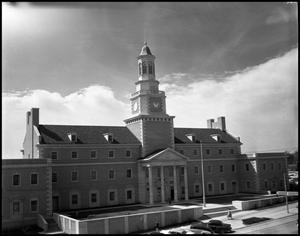 Primary view of object titled '[North side of Administration Building at North Texas State College, from parking lot (#7)]'.