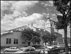 Primary view of object titled '[Administration Building under construction at North Texas State College (#3)]'.