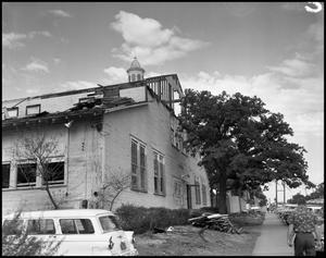 Primary view of object titled '[Administration Building under construction at North Texas State College (#8)]'.
