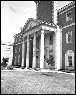 Primary view of object titled '[Administration Building North Entrance]'.