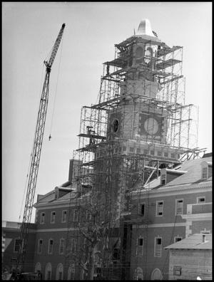 Primary view of object titled '[McConnell Tower Construction #1]'.
