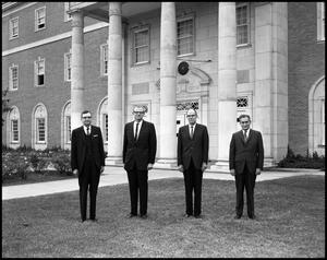 Primary view of object titled '[Black and White Administration Group Photo, 1967-1968]'.