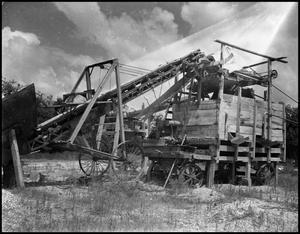 Primary view of object titled '[Grain Elevator in Denton Area #2, 1942]'.