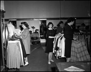 Primary view of object titled '[Women in Clothing Store, 1943]'.