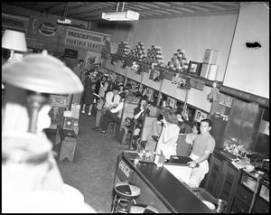 Primary view of object titled '[The Interior of Hamilton's Drug Store, 1943]'.
