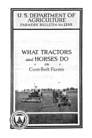 Primary view of object titled 'What tractors and horses do on Corn-Belt farms.'.