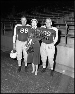 Primary view of object titled '[Alumni Football Game - North Texas vs. San Jose, 1954]'.