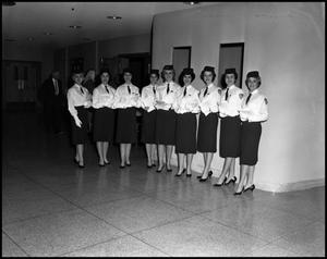 Primary view of object titled '[Angel Flight #1 at Kiwanis Club Minstrel, 1961]'.