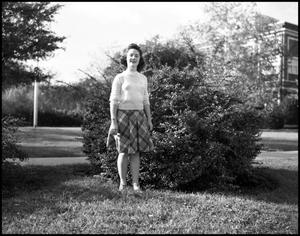 Primary view of object titled '[Marie Austin Posing Outside]'.