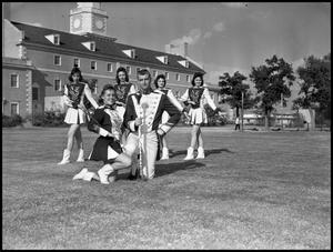 Primary view of object titled '[Marching Band Baton Twirlers and Majorettes]'.