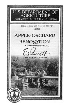 Primary view of object titled 'Apple-orchard renovation.'.