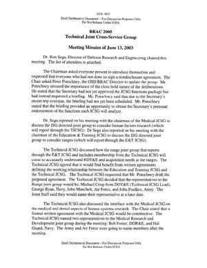 Primary view of object titled 'Technical Cross-Service Group - Meeting Minutes of June 13, 2003'.