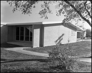 Primary view of object titled '[Baptist Student Center Building in 1961]'.