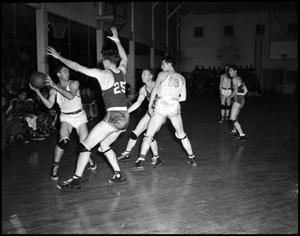 Primary view of object titled '[Basketball - Men - Game #9 - 1942]'.