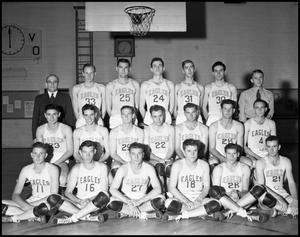 Primary view of object titled '[Basketball Team Group Photograph #1 - Men - 1940]'.