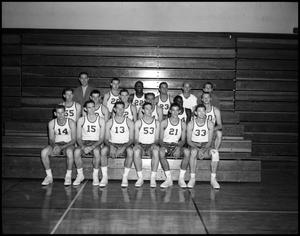Primary view of object titled '[Basketball Team Group Photograph #1 - Men - 1960]'.