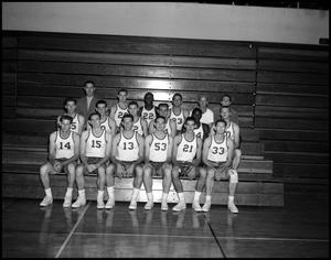 Primary view of object titled '[Basketball Team Group Photograph #2 - Men - 1960]'.