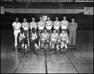 Primary view of object titled '[Basketball Team Group Photograph #1 - Men - Freshmen - 1960]'.