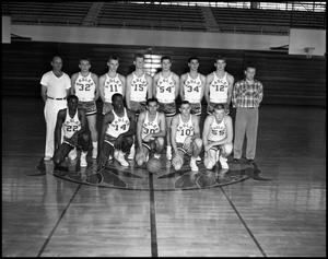 Primary view of object titled '[Basketball Team Group Photograph #2 - Men - Freshmen - 1960]'.