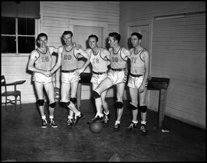 Primary view of object titled '[Five Basketball Athletes, 1940s]'.