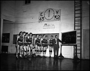 Primary view of object titled '[Game Plan for Men's Basketball Team, 1950s]'.