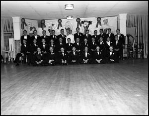 Primary view of object titled '[Beta Alpha Psi Members in Black Tie, 1942]'.
