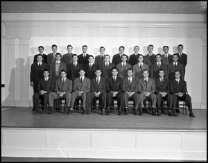 Primary view of object titled '[Beta Alpha Psi, 1942 - Suit and Tie Group Photo]'.