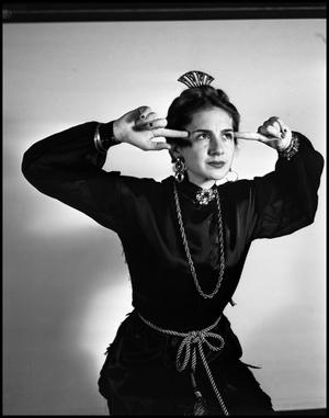 "Primary view of object titled '[""Blithe Spirit"" Production Actress in 1942]'."