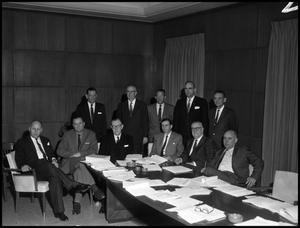 Primary view of object titled '[Board of Regents #3 - Meeting with Architects - 1958]'.