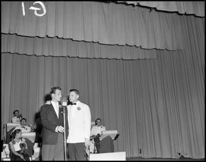 Primary view of object titled '[Pat Boone Performing at Stage Show]'.