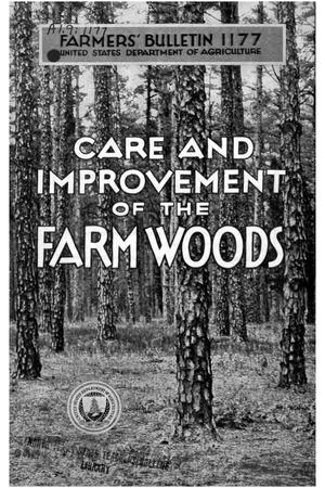 Primary view of Care and improvement of the farm woods.