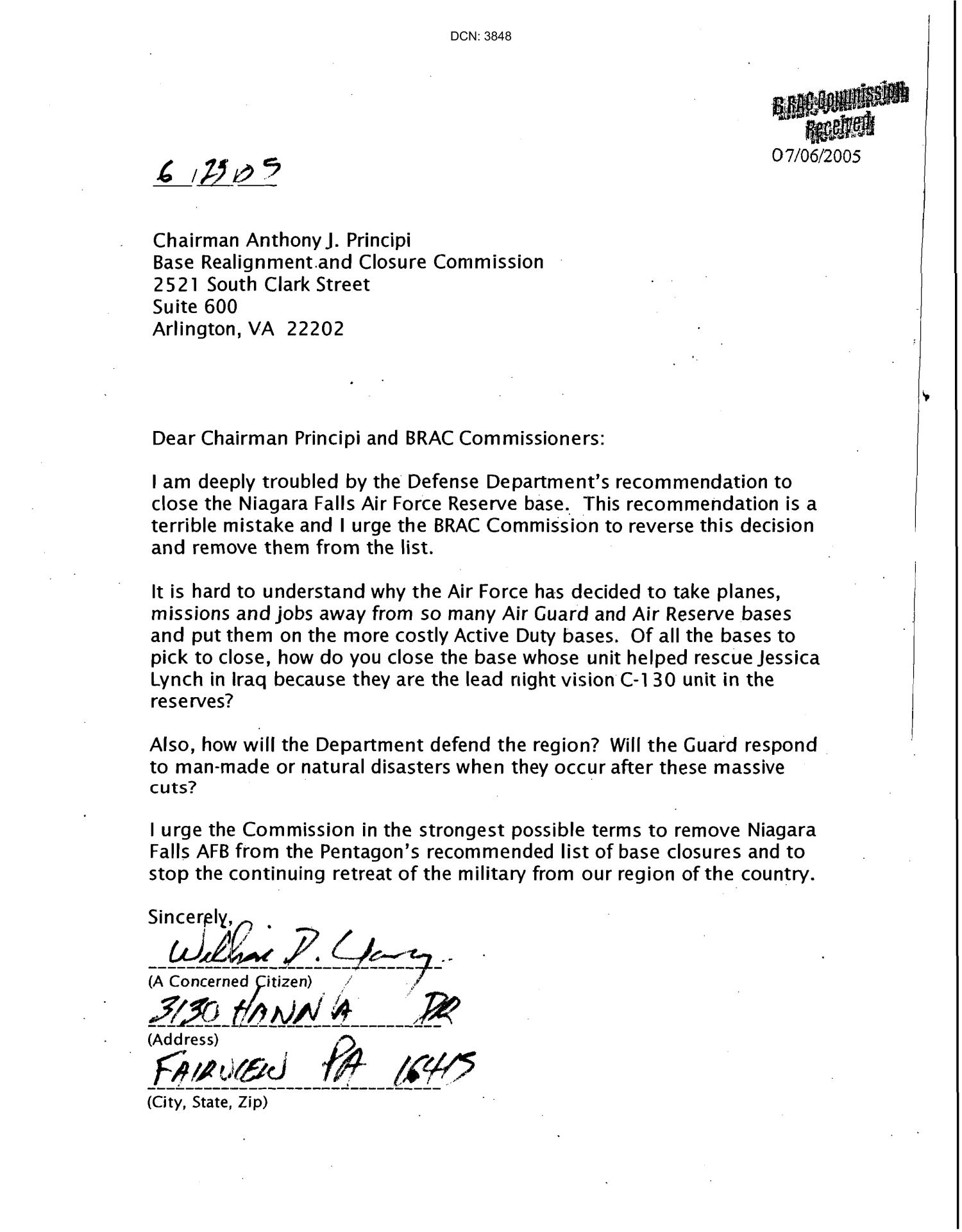 Letters from Niagara Falls Community to the Commission                                                                                                      [Sequence #]: 1 of 501