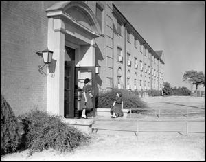 Primary view of object titled '[Bruce Hall Entrance - Exterior]'.