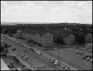 Primary view of object titled '[Bruce Hall - Exterior- Taken from the Administration Bldg - 1956]'.