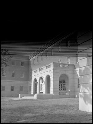 Primary view of object titled '[Business Admin. Building Side Entrance, 1960 #2]'.