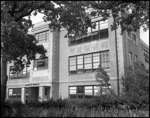 Primary view of object titled '[School of Business Building Entrance]'.
