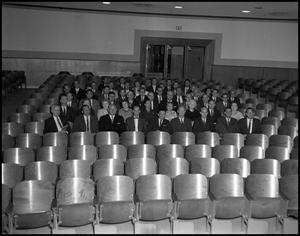 Primary view of object titled '[School of Business Administration in Auditorium, 1962]'.