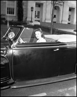 Primary view of object titled '[Edith Butler Sitting in Car]'.
