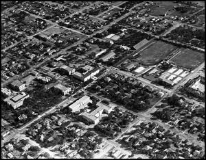 Primary view of object titled '[Campus - Aerial #2 - 1942]'.