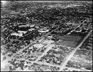 Primary view of object titled '[Campus - Aerial #4 - 1942]'.